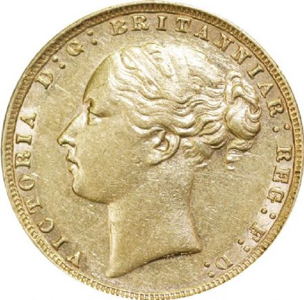 Victoria Young Head G&D Gold Sovereign 1871-1887